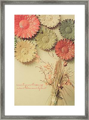 Count Your Blessings Framed Print by Bonnie Bruno