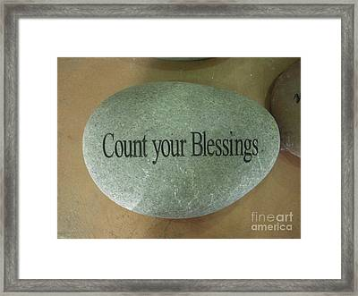 Count Your Blessings Framed Print by Deborah Finley
