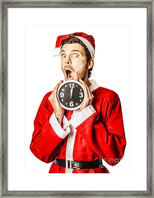 Countdown To Christmas Time Coming Soon Framed Print by Jorgo Photography - Wall Art Gallery