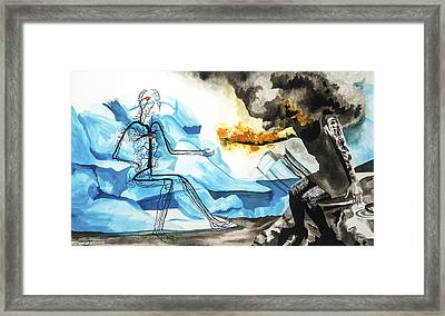 Counter Intuition Framed Print by Jenie Gao