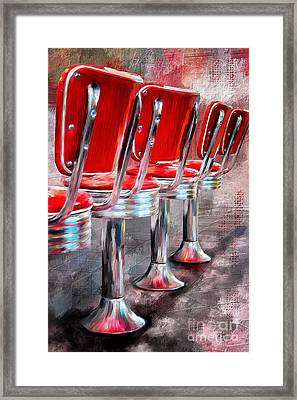 Counter Seating Available Framed Print