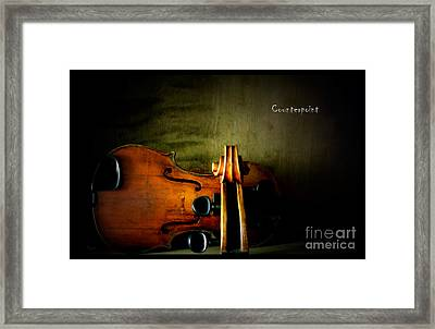 Counterpoint Framed Print by Steven Digman