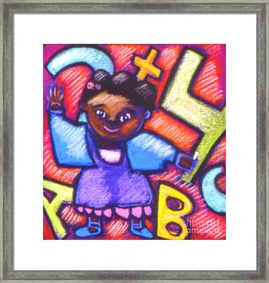 Counting Framed Print by Angelina Marino