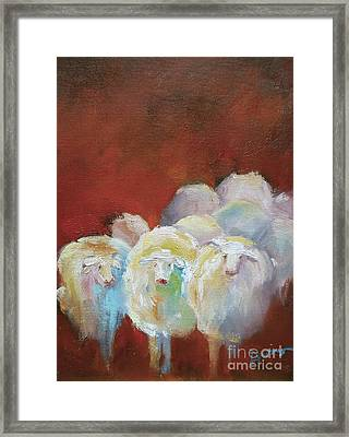 Counting Sheep Framed Print by Xx X