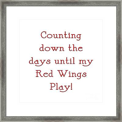 Counting The Days 1 Framed Print by Andee Design