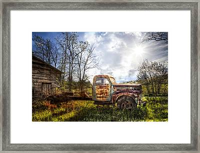 Country Afternoon Framed Print by Debra and Dave Vanderlaan