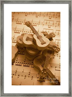 Country And Western Guitars. Music Education Framed Print