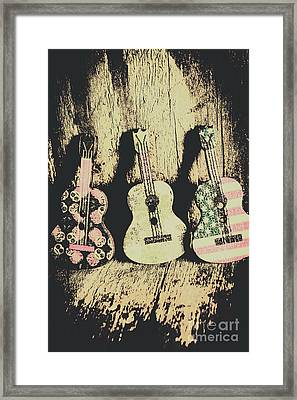 Country And Western Saloon Songs Framed Print