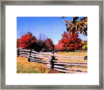 Country Autumn Framed Print by Anthony Caruso