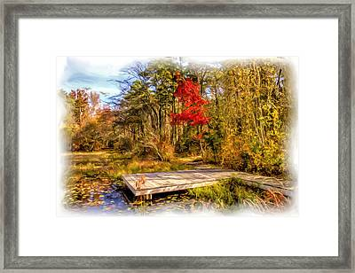 Country Autumn Scenic Framed Print by Geraldine Scull