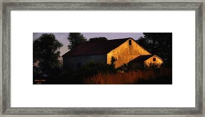 Country Barn Framed Print by Brian Fisher