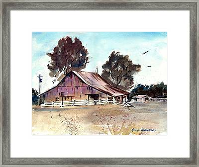 Country Barn Framed Print by George Markiewicz