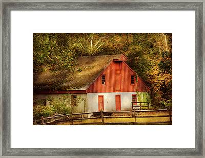 Country - Barn - Out To Pasture Framed Print by Mike Savad