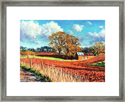 Country Barn Framed Print by Tilly Willis