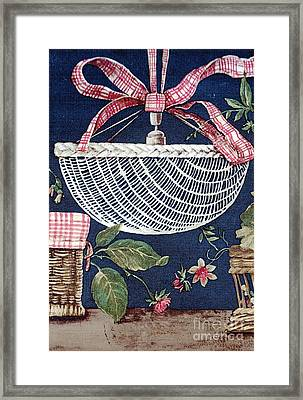 Country Basket Framed Print