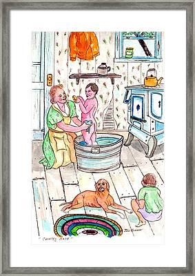 Country Bath Framed Print