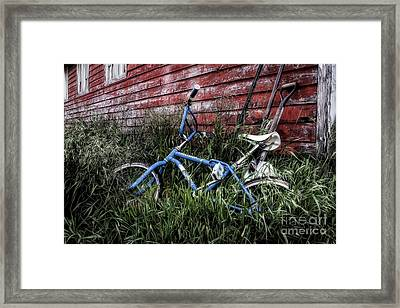 Framed Print featuring the photograph Country Bicycle by Brad Allen Fine Art