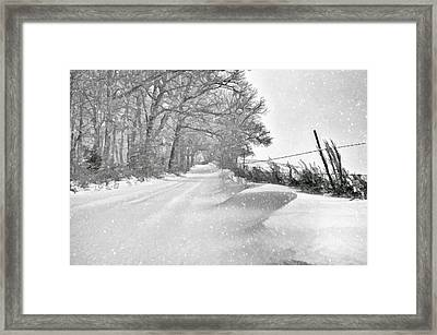Country Blizzard  Framed Print by SharaLee Art