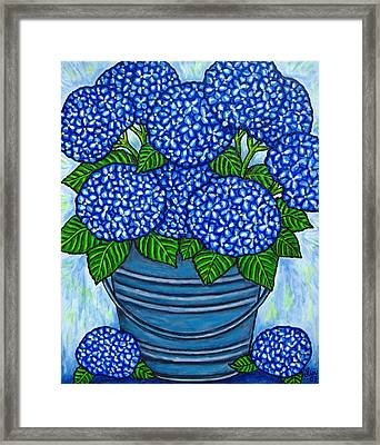 Country Blues Framed Print by Lisa  Lorenz