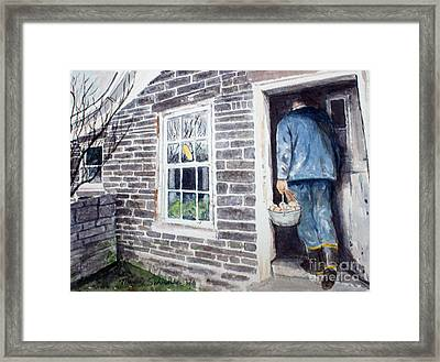 Country Breakfast Framed Print