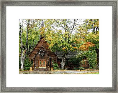 Country Chapel Framed Print by Jerry Battle