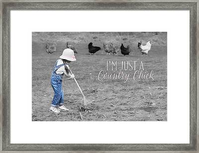 Country Chick Framed Print by Lori Deiter