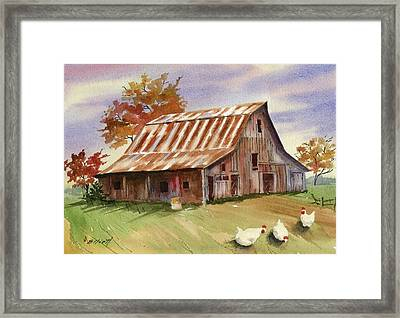 Country Chicks Framed Print