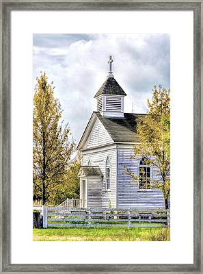 Country Church At Old World Wisconsin Framed Print