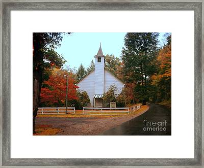 Framed Print featuring the photograph Country Church by Brenda Bostic