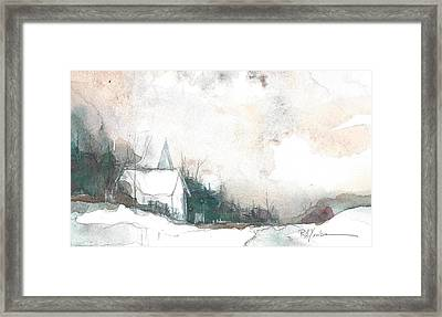 Country Church In Winter Framed Print