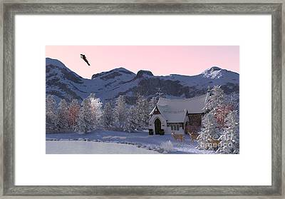 Framed Print featuring the digital art Country Church by Methune Hively
