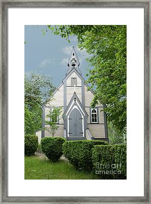 Country Church Framed Print by Rod Wiens