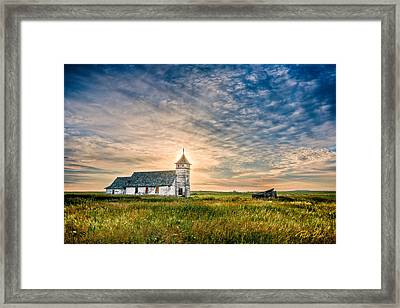 Country Church Sunrise Framed Print by Rikk Flohr