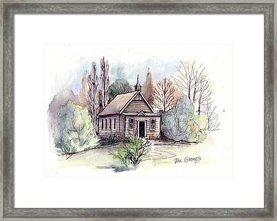 Country Church Framed Print by Val Stokes