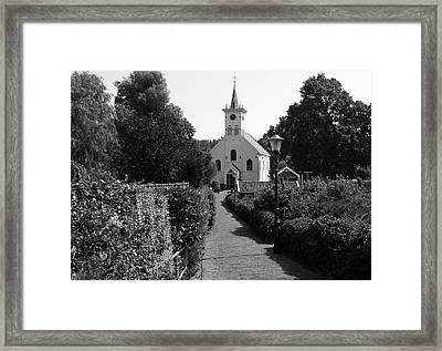 Country Churchyard Framed Print