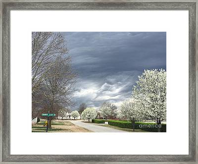 Country Club Circle Framed Print