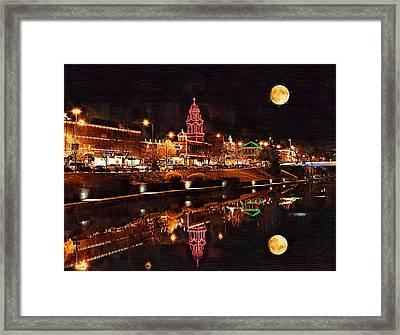 Country Club Plaza Lights Kansas City Missouri Framed Print