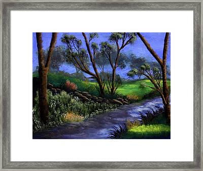 Country Club View Framed Print