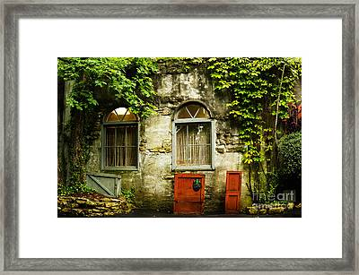 Country Cottage And Six Pane Windows Framed Print by MaryJane Armstrong