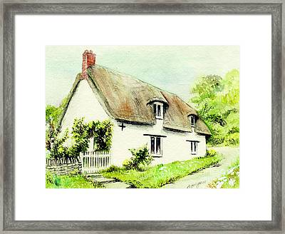 Country Cottage England  Framed Print by Morgan Fitzsimons