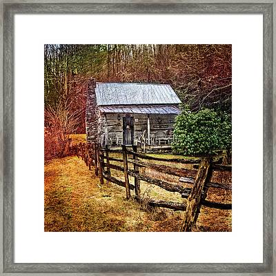 Country Cottage Farm Framed Print by Debra and Dave Vanderlaan