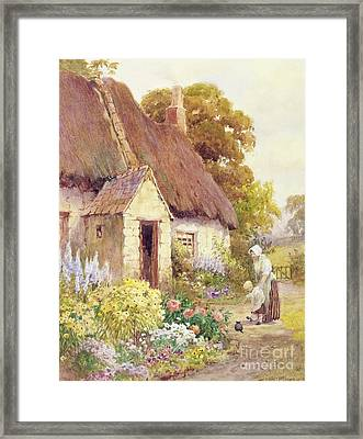 Country Cottage Framed Print by Joshua Fisher