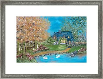 Country Cottage Framed Print by Mikki Alhart