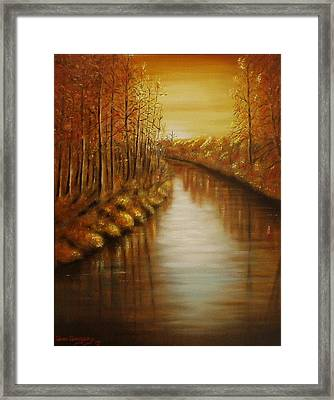 Country Creek Framed Print