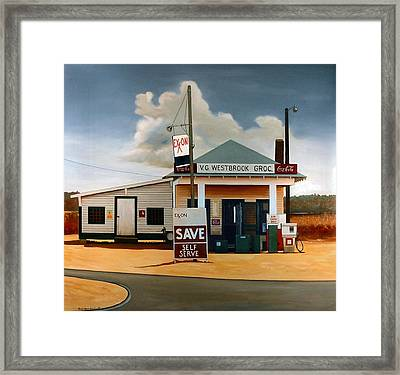 Country Crossroads Framed Print by Doug Strickland