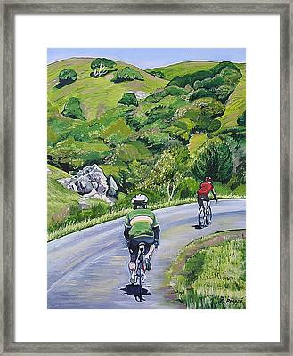 Country Cyclists Framed Print by Colleen Proppe