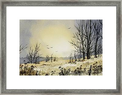 Framed Print featuring the painting Country Dawn by James Williamson
