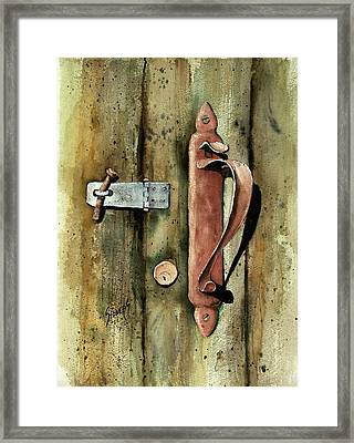 Country Door Lock Framed Print by Sam Sidders
