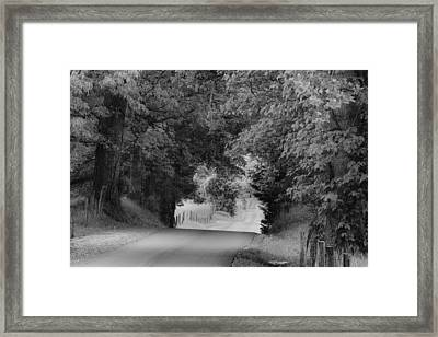 Country Drive Framed Print by Andrew Soundarajan