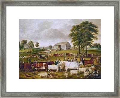 Country Fair, 1824 Framed Print